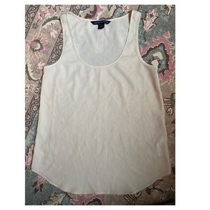 French connection tank gold / cream